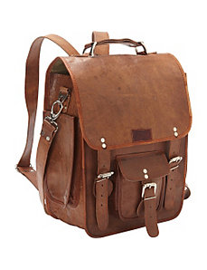 Three-in-One Backpack/Brief/Messenger by Sharo Leather Bags