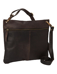 Women's Dark Brown Cross Body Bag by Sharo Leather Bags