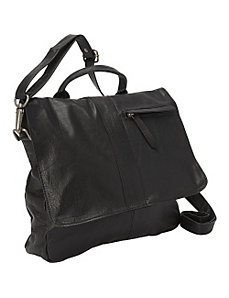 Black Leather Cross Body Bag by Sharo Leather Bags