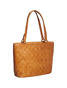 Women's Cross Weave Tote by Sharo Leather Bags