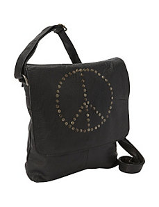 Peace Messenger Bag by Sharo Leather Bags