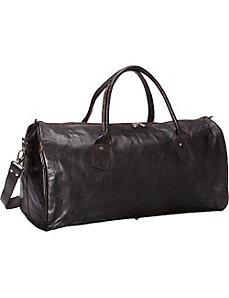 Black Leather Duffle Bag by Sharo Leather Bags
