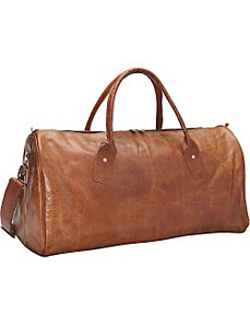 Brown Leather Duffle Bag by Sharo Leather Bags
