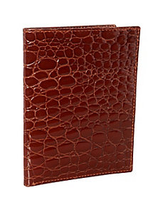 Croco Bidente Passport Case by Budd Leather