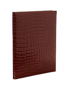 Croco Bidente Letter Pad Cover by Budd Leather