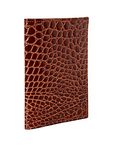 Croco Bidente Passport Cover by Budd Leather