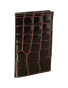 Croco Bidente Business Card Case by Budd Leather