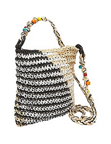 Crochet Paper Straw Multi-Color Crossbody by Magid