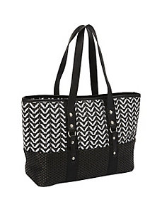 Lurex X Paper Straw Tote by Magid