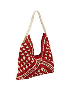 Tribal Paper Straw Hobo by Magid