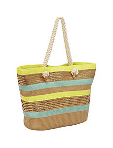 Lurex Stripe Paper Tote by Magid