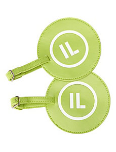 Leather State Initial Luggage Tag IL - Set of 2 by pb travel