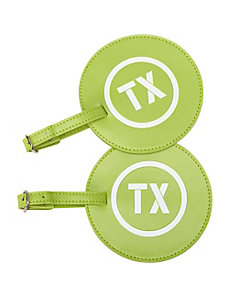 Leather State Initial Luggage Tag TX - Set of 2 by pb travel