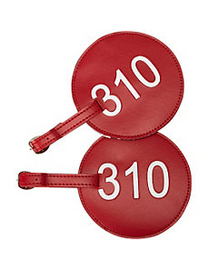Leather Number Luggage Tag 310 - Set of 2 by pb travel