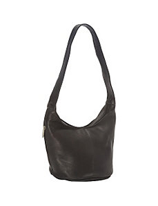 Vaquetta Hobo Bag with Side Zip Pocket by Royce Leather