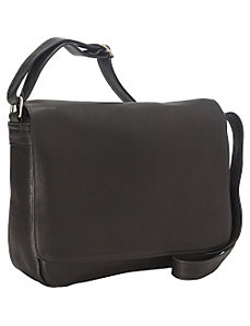 Vaquetta Shoulder Bag with Flap by Royce Leather