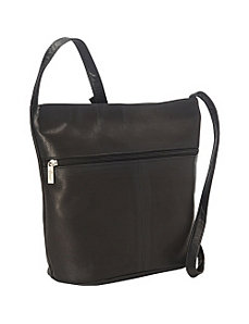 Vaquetta Shoulder Bag with Front Zipper by Royce Leather