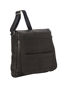 Vaquetta Vertical 16 Inch Laptop Messenger Bag by Royce Leather