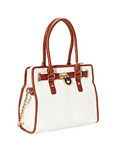 Aisha Woven Pattern Convertible Satchel by SW Global