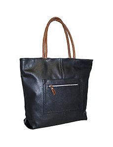 Large Tote with Braided Straps by Punto Uno