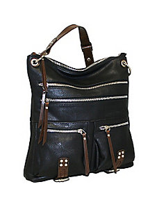 Large Top Zip Messenger by Punto Uno