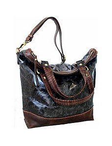 Large Top Zip Convertible Tote by Nino Bossi