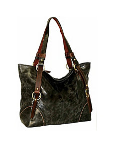 Large Tote with Contrast Trim Detail by Nino Bossi