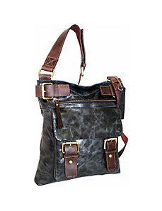 Cross Body Bag with Front Flap Pocket by Nino Bossi