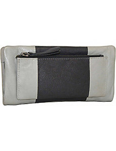 Zip Around Wallet with Exterior Pocket by Nino Bossi