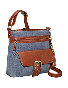 Multi-compartment Crossbody Bag by La Diva