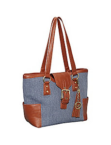 Shoulder Bag with Buckle by La Diva