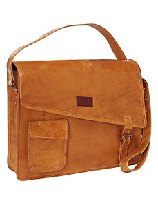 Women's Computer Messenger Bag by Sharo Leather Bags