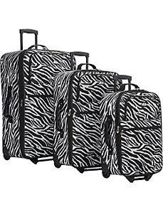 Safari Collection 3 Piece Luggage Set by American Flyer