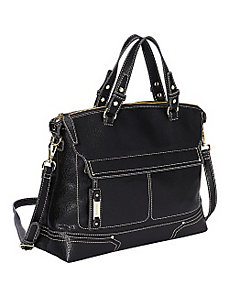 Hidden Zipper Satchel by Nine West Handbags