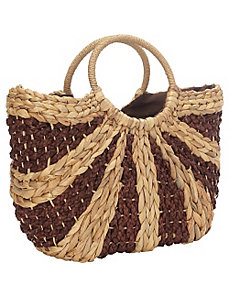 Water Hyacinth Tote by Straw Studios