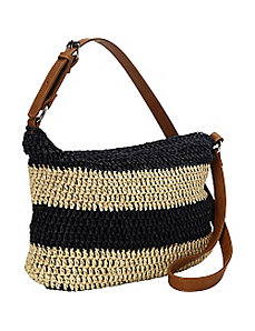 Paper Straw Striped Crossbody by Straw Studios