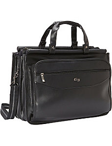 Classic Triple Compartment Laptop Briefcase by SOLO