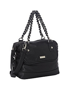 Chain Link Medium Satchel by kensie