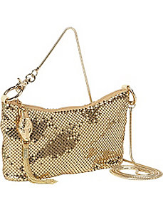 Snake Head Zipper Pull Crossbody by Whiting and Davis