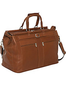 Leather Carpet Bag by Piel