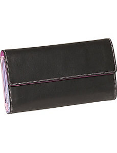 Ladies 3-Part Checkbook Clutch by Derek Alexander Leather