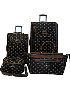 Fleur de Lis 4-Piece Luggage Set by American Flyer