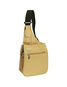 Leather Expandable Shoulder Bag by Travelon