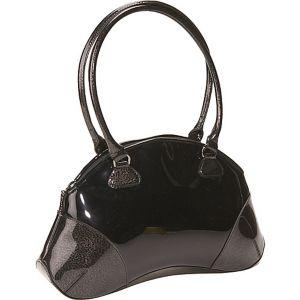Black Patent Bean Bag