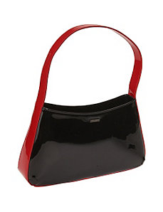 Runway Belle Black Patent Handbag by Bisadora