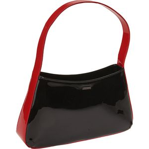Runway Belle Black Patent Handbag