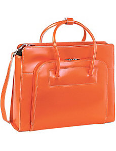 W Series Lake Forest Leather Women's 15.4' Laptop Case by McKlein USA