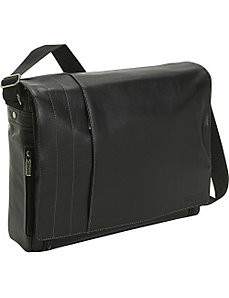 Full-Grain Leather Laptop Messenger Bag by Kenneth Cole Reaction Business and Luggage