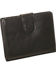 Ladies Medium Credit Card Wallet by Derek Alexander Leather