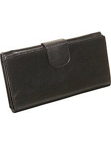 Ladies Three Part Clutch Wallet by Derek Alexander Leather